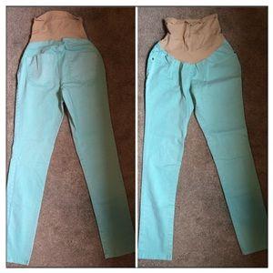 Mint Full Panel Maternity Jeans